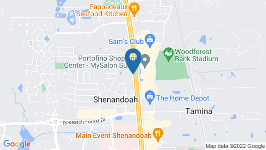 Homewood Suites by Hilton The Woodlands Texas Map