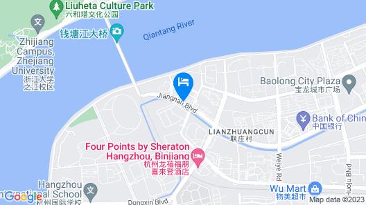 Le Méridien Hangzhou, Binjiang Map