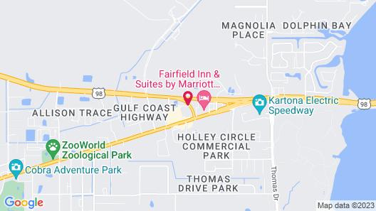 Hawthorn Suites By Wyndham Panama City Beach, FL Map