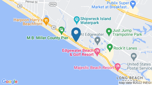 Holiday Terrace Oceanfront Map