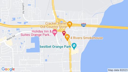 Zen Living Suites Extended Stay - Jacksonville - Orange Park Map