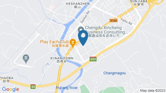 Four Points By Sheraton Chengdu, Pujiang Resort Map