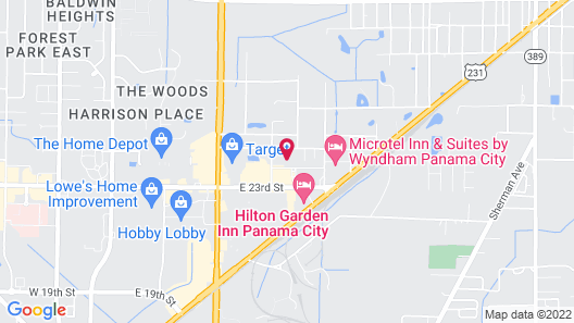 Courtyard by Marriott Panama City Map