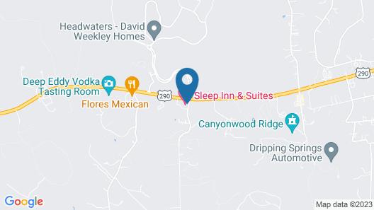 Sleep Inn & Suites Dripping Springs Map