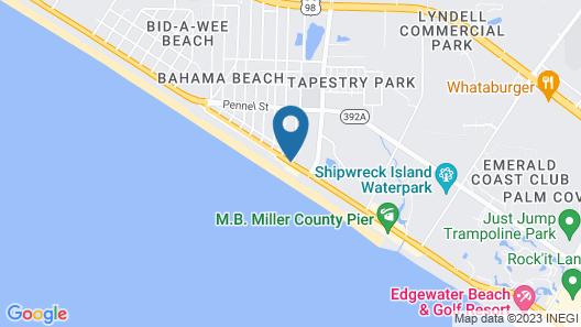 Holiday Inn Express & Suites Panama City Beach - Beachfront Map
