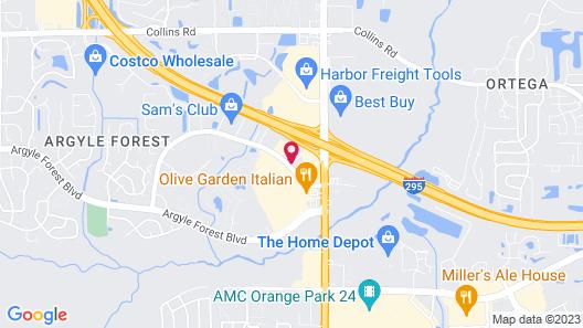 Red Roof Inn Jacksonville - Orange Park Map