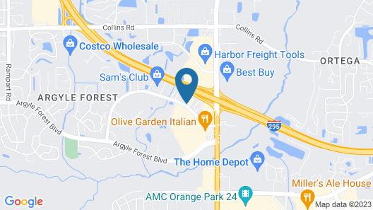 Quality Inn Orange Park Jacksonville Map