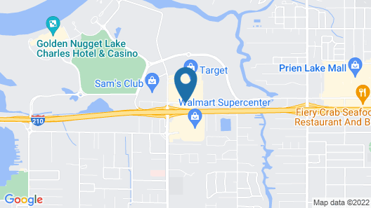 Wingate by Wyndham Lake Charles Casino Area Map
