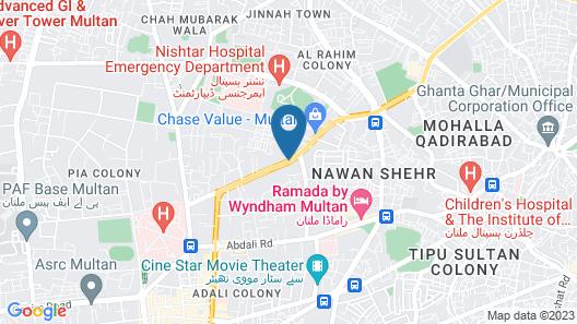 Avari Xpress Multan Map