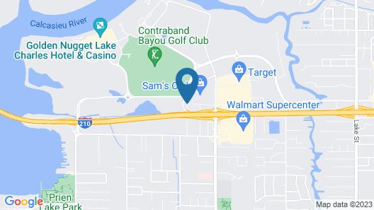 L'Auberge Casino Resort Lake Charles Map