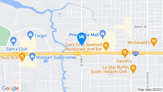 Americas Best Value Inn & Suites Lake Charles at I-210 Exit 5 Map
