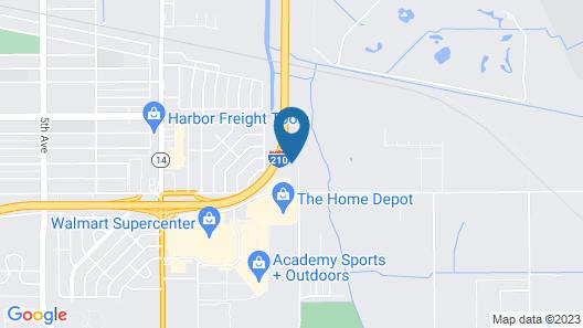 WoodSpring Suites Lake Charles Map