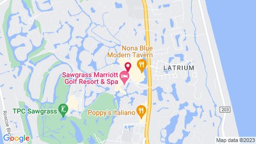 Hilton Garden Inn Jacksonville Ponte Vedra Sawgrass Map