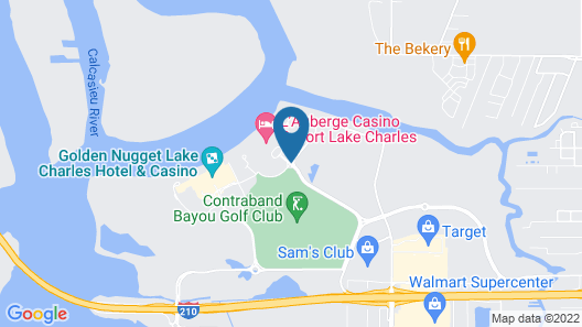 Courtyard by Marriott Lake Charles Map
