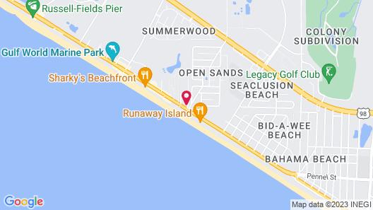 Emerald Beach Resort by Panhandle Getaways Map