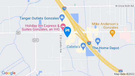 Candlewood Suites Gonzales - Baton Rouge Area Map