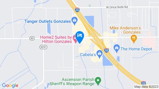 Hampton Inn Gonzales Map