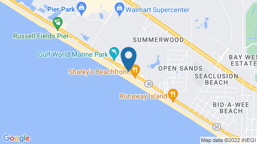 The Reef at Seahaven Beach Resorts Map