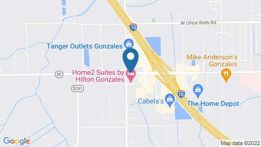 Holiday Inn Express & Suites Gonzales Map