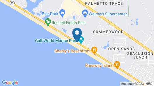 Hampton Inn & Suites Panama City Beach-Beachfront Map