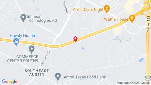 Holiday Inn Austin Airport Map