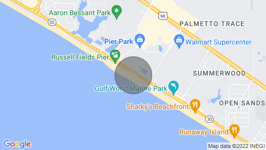 Near Pier Park Beachfront Elegantly Clean Self Checkin/out Free Wifi Map