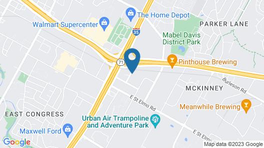 Hampton Inn Austin/Airport Area South Map