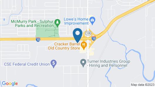 HomeTowne Studios by Red Roof Lake Charles - Sulphur Map