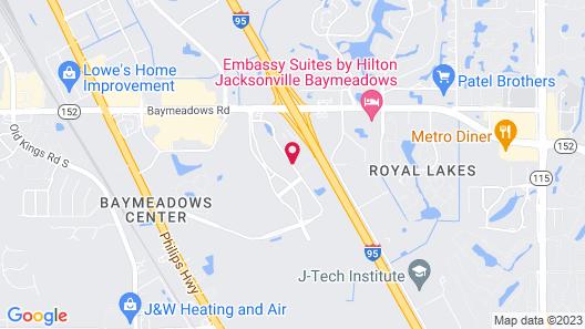 Sonesta ES Suites Jacksonville Map