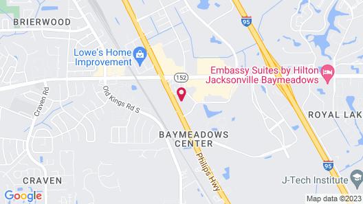 Motel 6 Jacksonville, FL - South Map