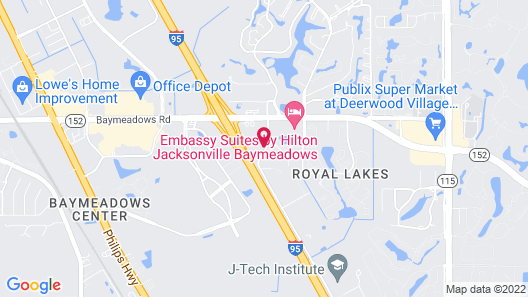 Extended Stay America Suites Jacksonville Baymeadows Map