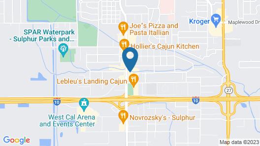 Motel 6 Sulphur, LA Map