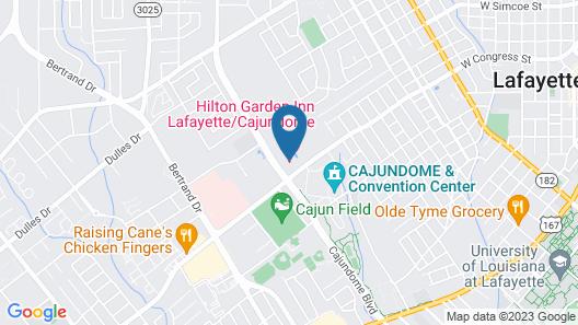 Hilton Garden Inn Lafayette/Cajundome Map