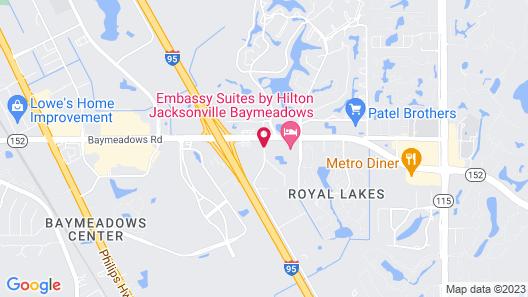 Ramada by Wyndham Jacksonville I-95 by Butler Blvd Map