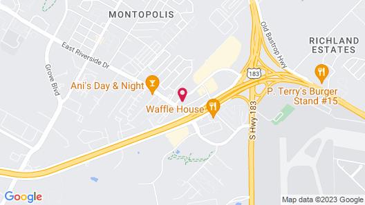 Motel 6 Austin, TX - Airport Map