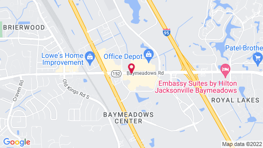 Four Points by Sheraton Jacksonville Baymeadows Map