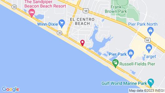 Tidewater Beach Resort by Panhandle Getaways Map