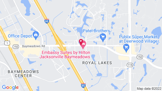 Embassy Suites by Hilton Jacksonville Baymeadows Map