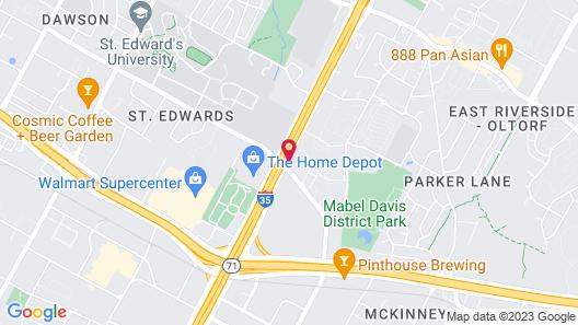 Wyndham Garden Hotel Austin Map