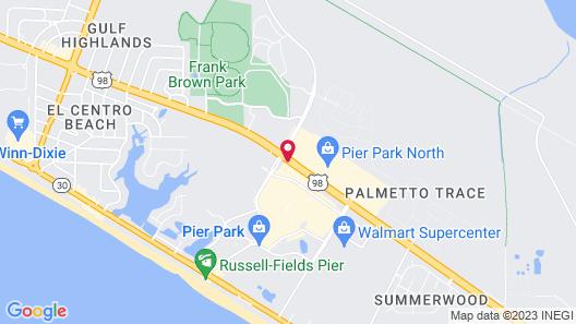 Towneplace Suites by Marriott Panama City Beach Pier Park Map