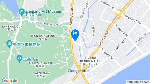 Hangzhou Huachen Holiday Hotel Map