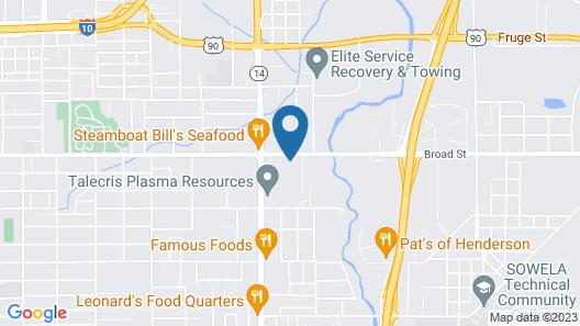 Knights Inn Lake Charles Map