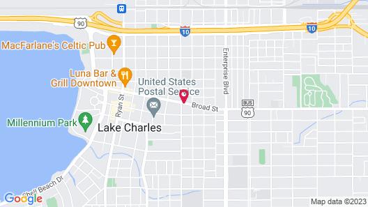 Howard Johnson by Wyndham Historic Lake Charles Map