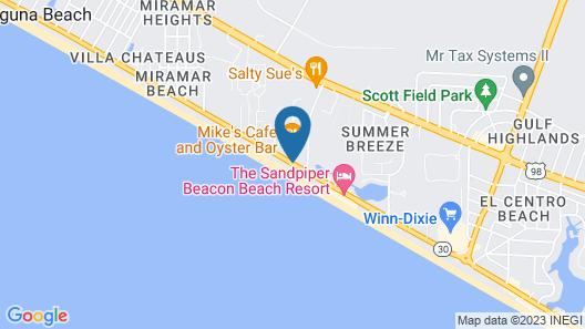 Emerald Isle Beach Resort by Panhandle Getaways Map
