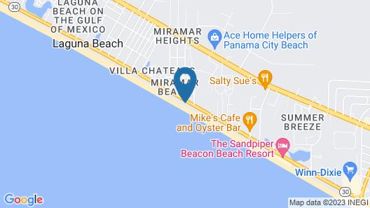 Celadon Beach Resort by Panhandle Getaways Map