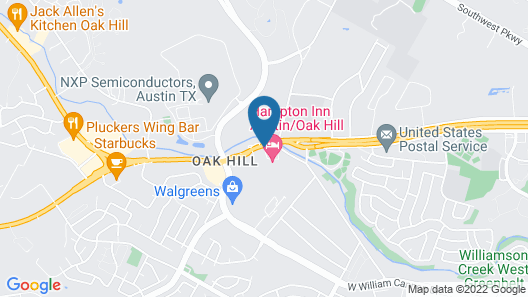 Hampton Inn Austin/Oak Hill Map