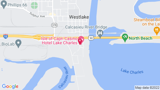 Isle of Capri Casino Hotel Lake Charles Map