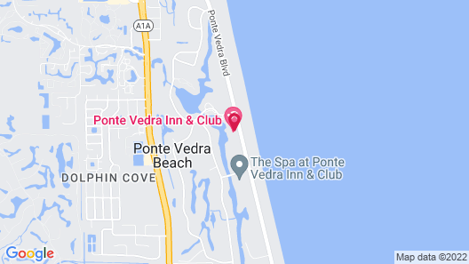 The Lodge and Club at Ponte Vedra Beach Map