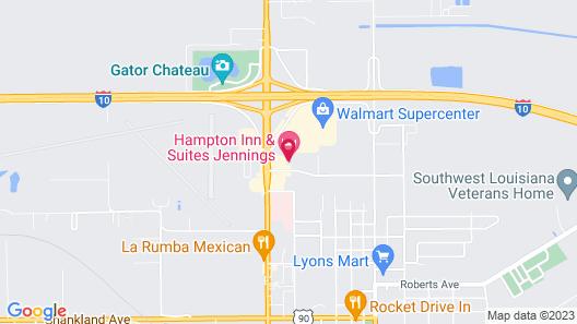 Hampton Inn & Suites Jennings Map