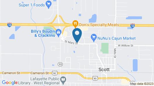 Comfort Inn & Suites Scott-West Lafayette Map